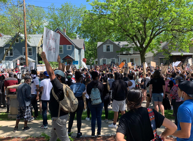 Protest in Madison in May 2020