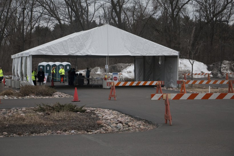 Mayo Clinic Health System's drive-thru COVID-19 testing in Eau Claire