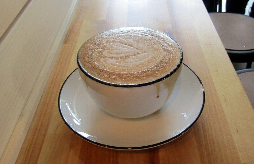 latte at Ruby Coffee Roasters