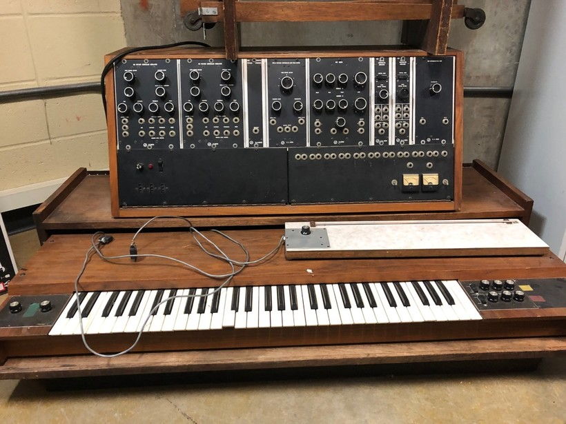The 1968 Moog synthesizer in storage at UW-Madison's Mead Witter School of Music was likely not owned by Voegeli.