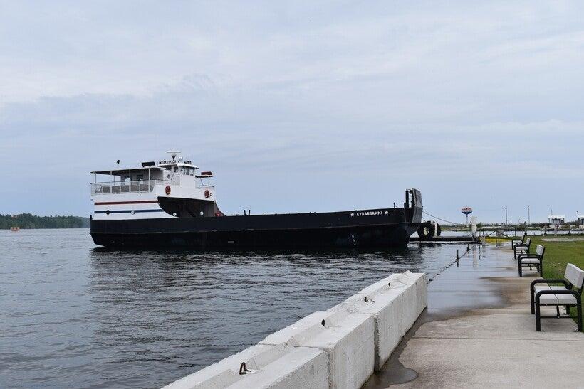 Washington Island Ferry docked on the island