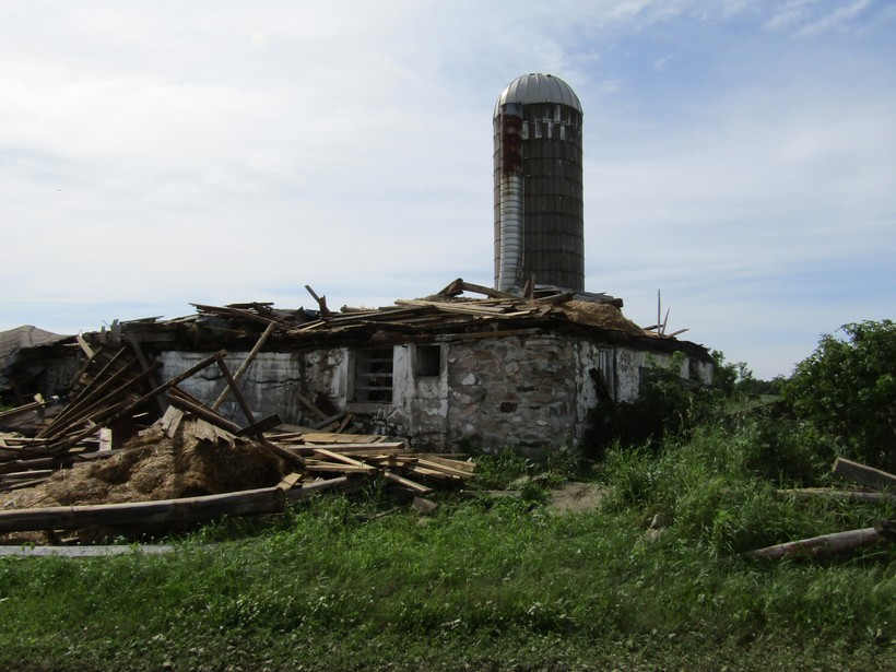 Knowlton barn destroyed by tornado