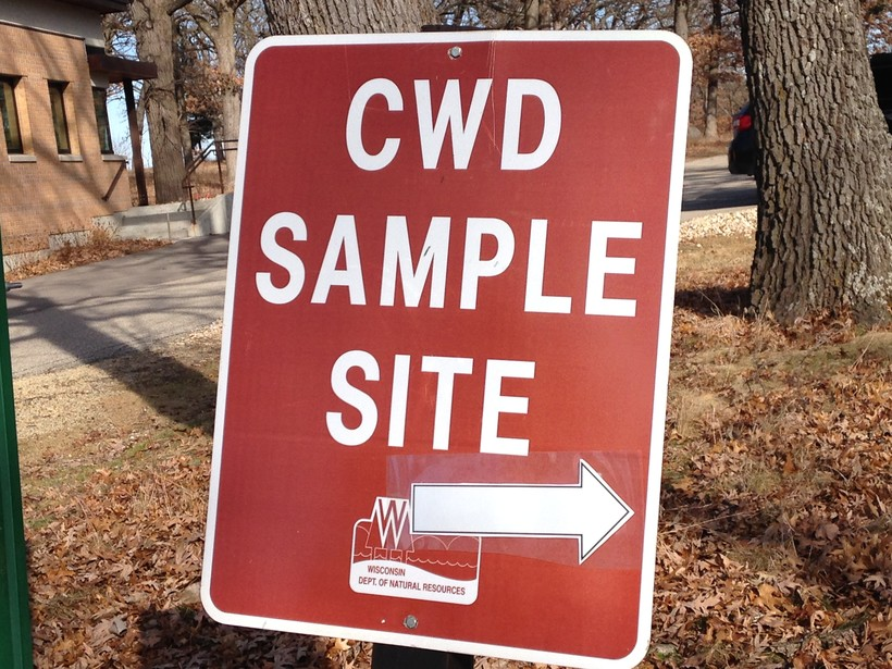 CWD sample site sign