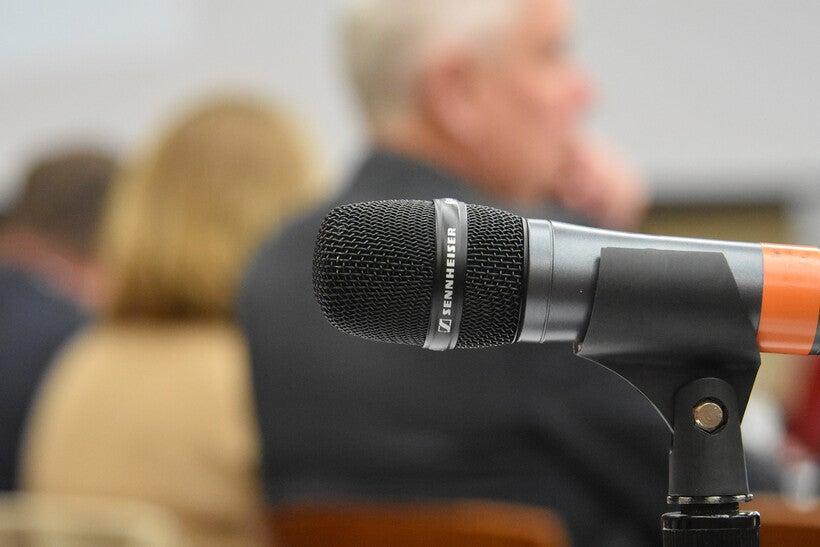 Microphone at UW System regents meeting