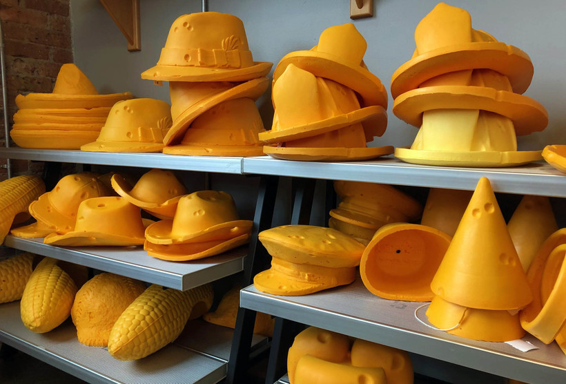 Differnt types of finished cheeseheads
