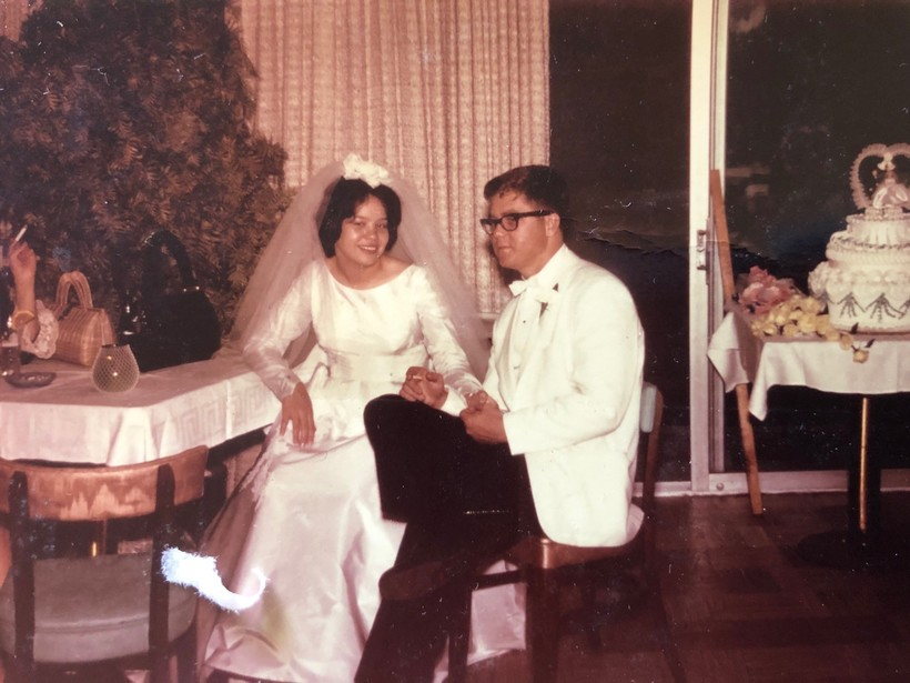 Rosemary Kraemer and her husband Robert Henry Kraemer on their wedding day
