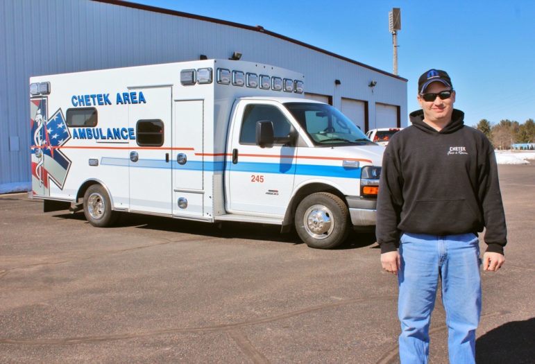 Ryan Olson is director of ambulance services in the Barron County city of Chetek