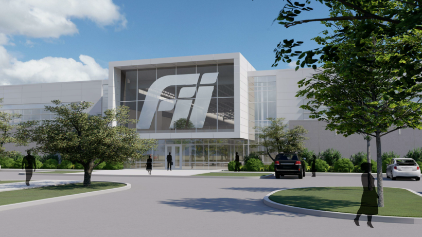 a proposed building on the Foxconn manufacturing campus