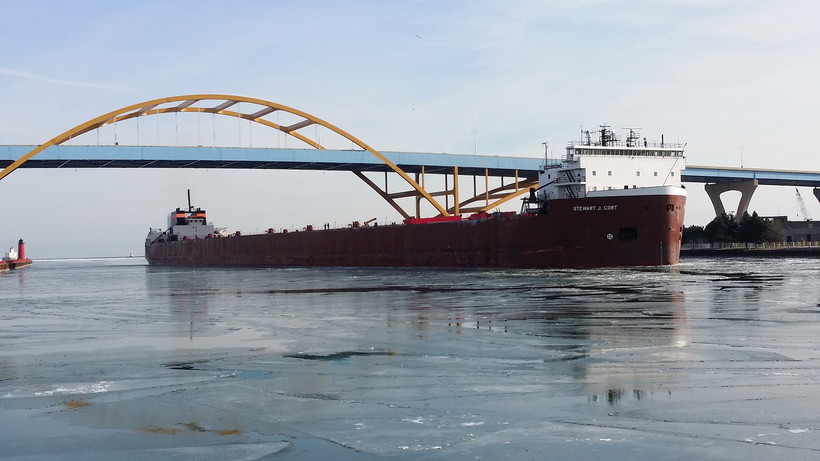 The Great Lakes freighter Stewart J. Cort