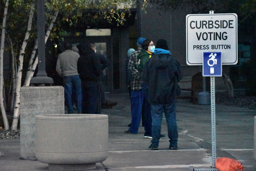Superior Voters Wait For Polls To Open