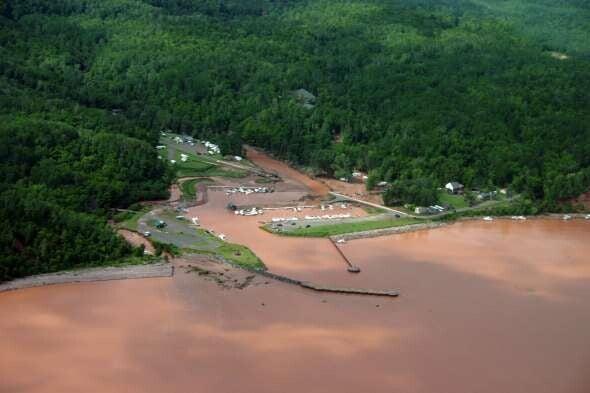 July 2016 flooding at Saxon Harbor.