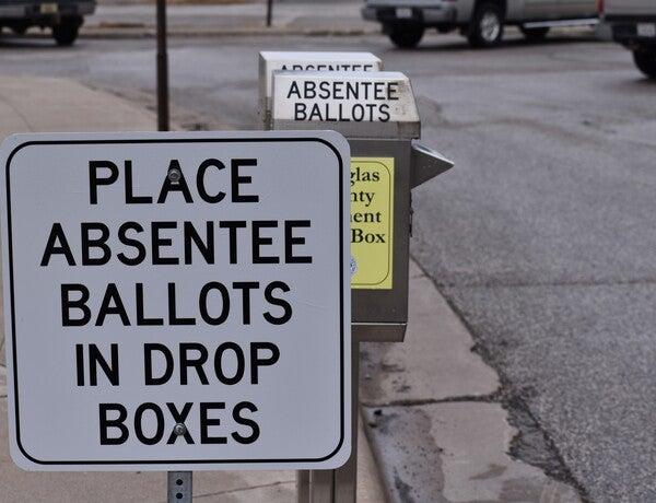 Superior has a drop box for absentee ballots