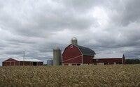 silos on farmland in Kettle Moraine
