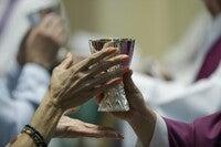 communion at Cathedral Churck of Saint Patrick in Pennsylvania