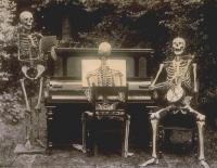 Skeletons at the piano