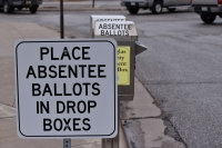 Superior has a drop box for absentee ballots