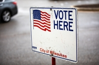 Early voting location at Midtown Shopping Center in Milwaukee