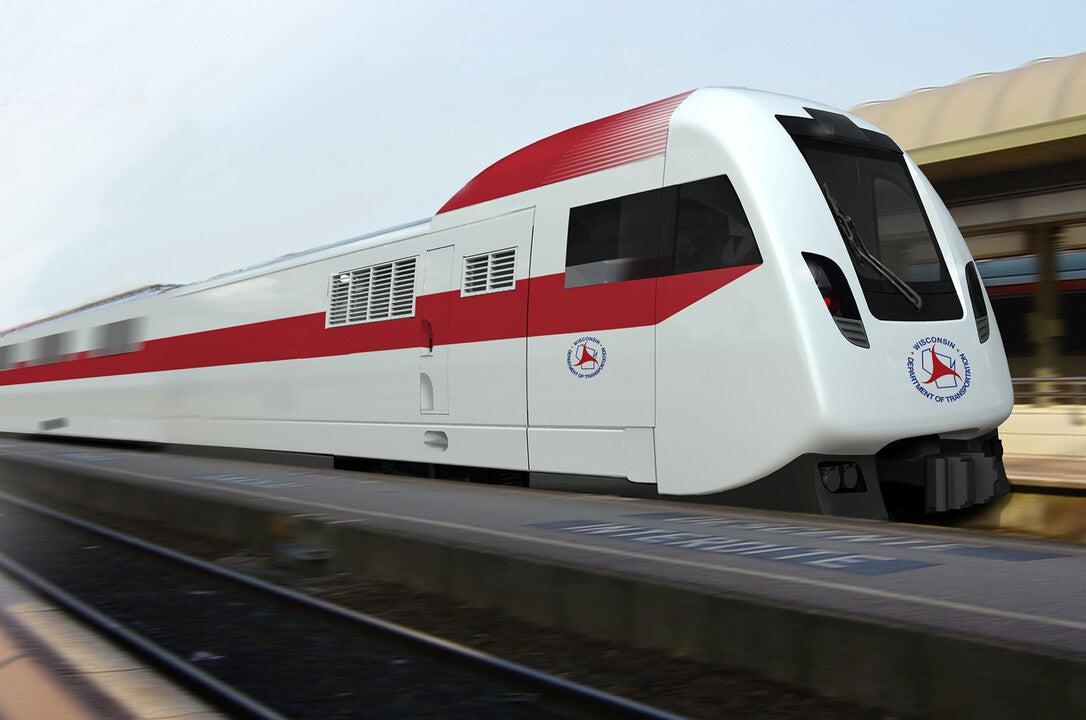 mock-up of the Talgo train